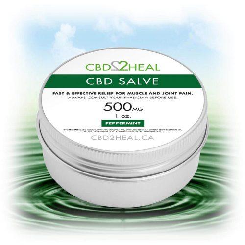 CBD2Heal CBD Pain Relief Cream Peppermint 500mg