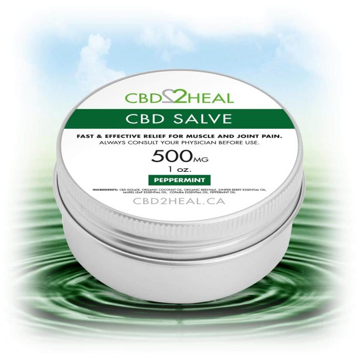 CBD2Heal CBD Pain Relief Cream Peppermint 500mg