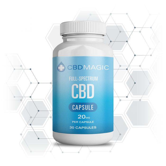 CBD Magic Full Spectrum CBD Hemp Gel Capsules 600mg (30caps)