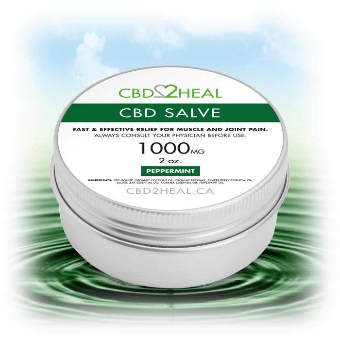 CBD2Heal CBD Pain Relief Cream Peppermint 1000mg