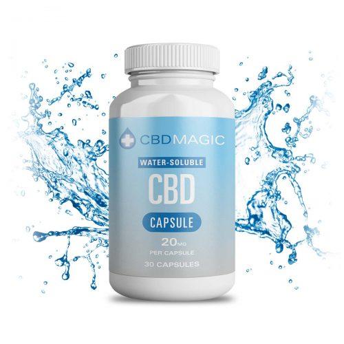 CBD Magic Water Soluble CBD Gel Capsules 600mg (30caps)