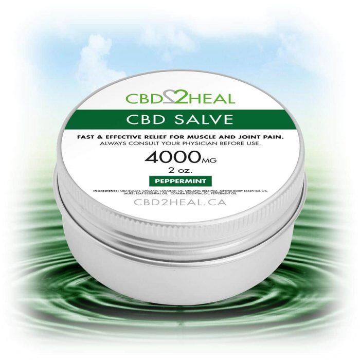 CBD2Heal CBD Pain Relief Cream Peppermint 4000mg